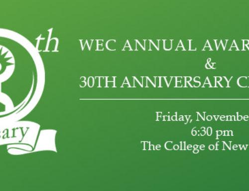WEC Annual Awards Dinner & 30th Anniversary Celebration