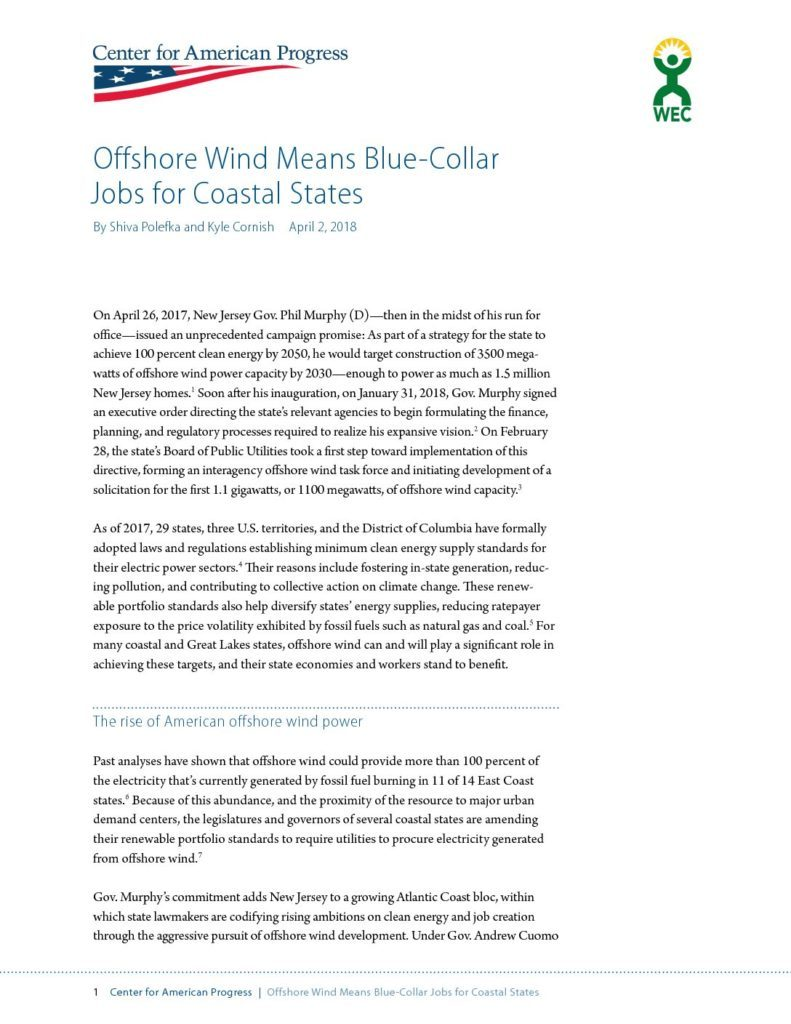 Offshore Wind Means Blue-Collar Jobs