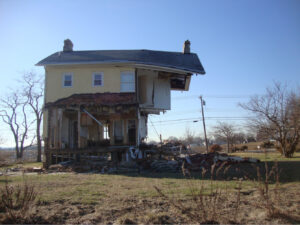 House damaged by Superstorm Sandy