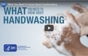 The Center for Disease Control and Prevention video on proper hand washing technique.